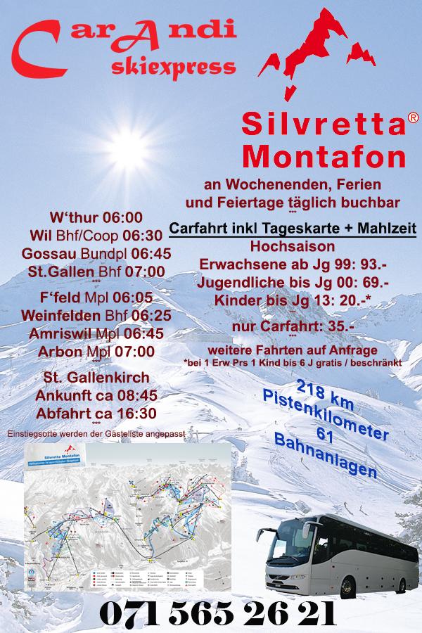 Flyer Skiexpress Silvretta Montafon 18/19