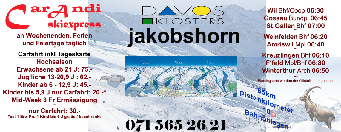 Flyer Skiexpress Davos Jakobshorn by car
