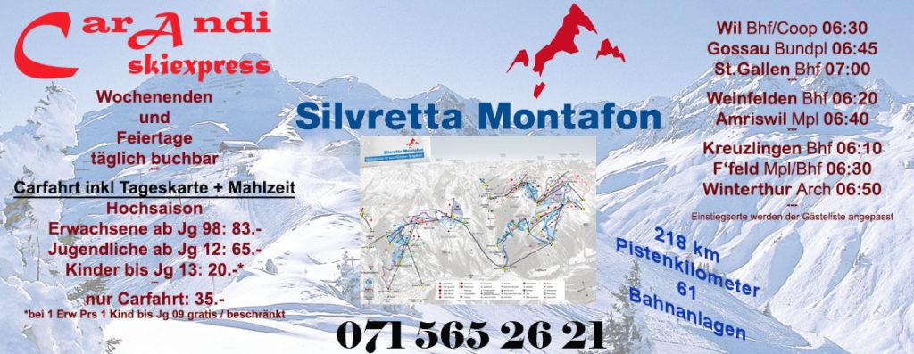 Flyer Skiexpress Silvretta Montafon 2017/2018